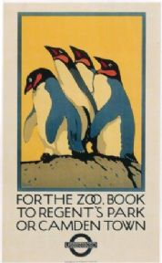 Vintage London underground poster - London Zoo